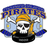 Hockey Pin for the 2022 Thousan Islands Pirates.